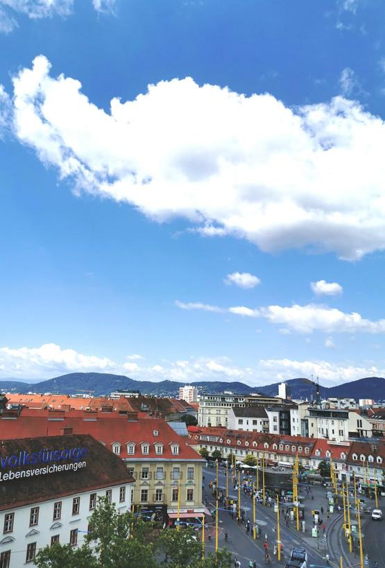 Panoramablick Graz Jakomini