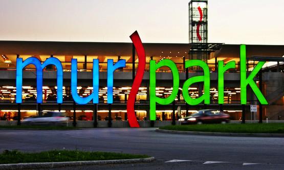 Murpark Leuchtreklame Graz