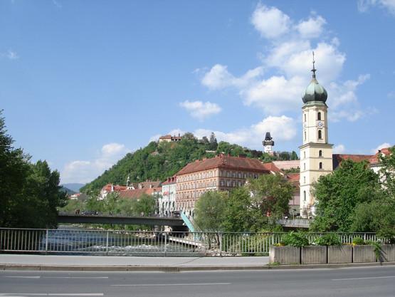 Blick vom Grieskai Graz