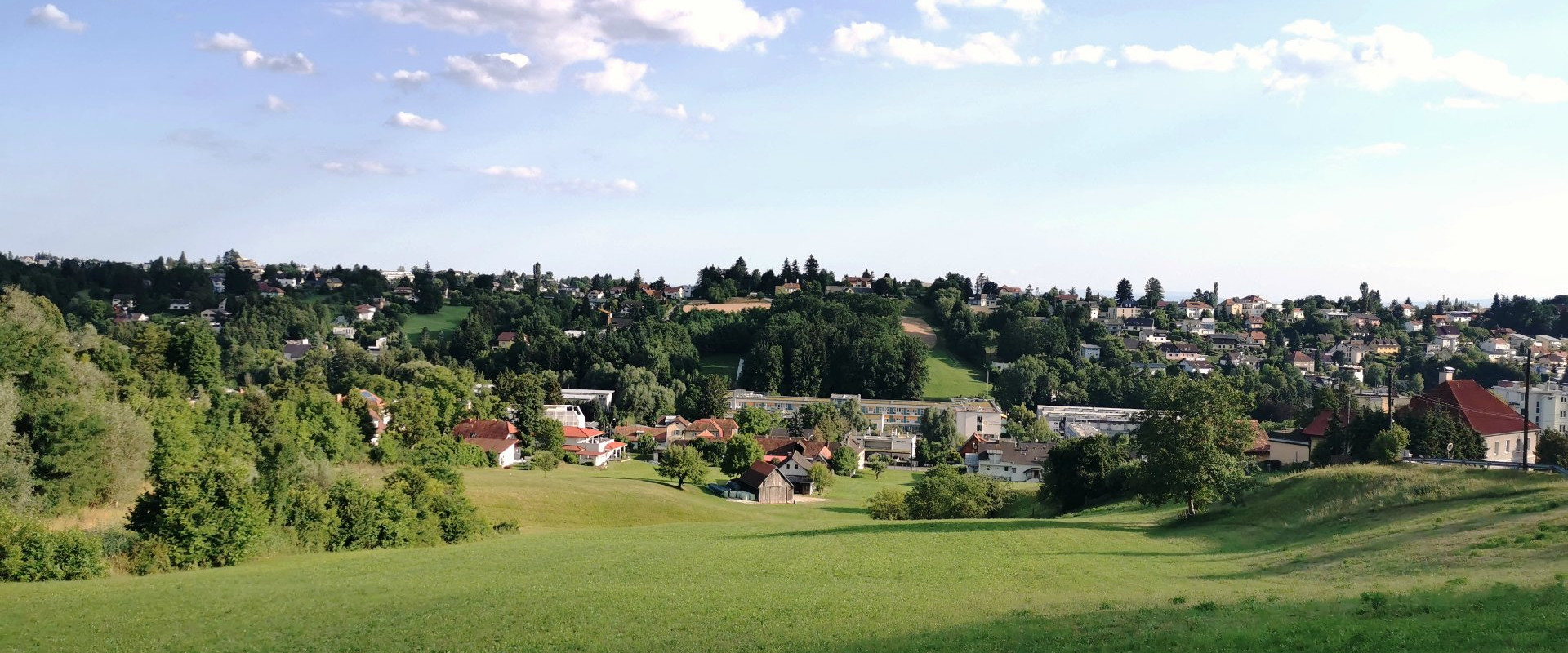 Blick auf den Bezirk Ries Graz